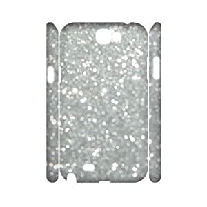 Silver Bling Personalized 3D Cover Case for Samsung Galaxy Note 2 N7100,customized phone case ygtg593332