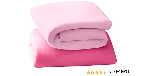 Clevamama Set de 2 sábanas bajeras para cuna de viaje (algodón ...