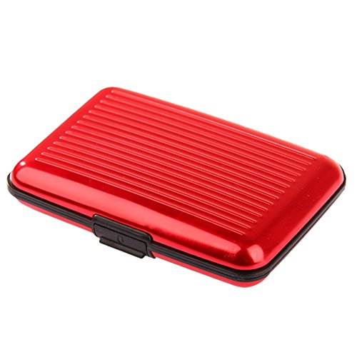 Wallet AllRight Credit Holder Red Pocket Waterproof Card Aluminium Card Card Credit Case pwq7vFp