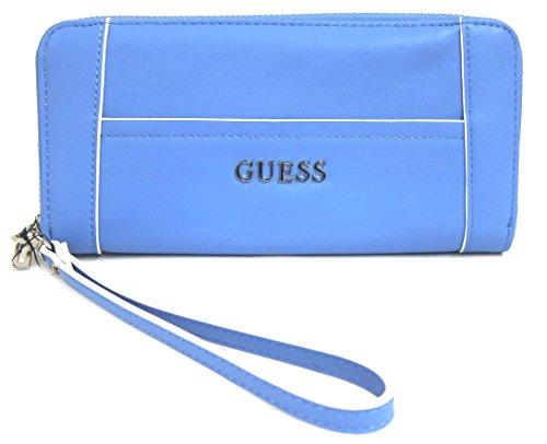 (GUESS Delaney Women's SLG Zip Around Clutch Wallet, Blueberry)