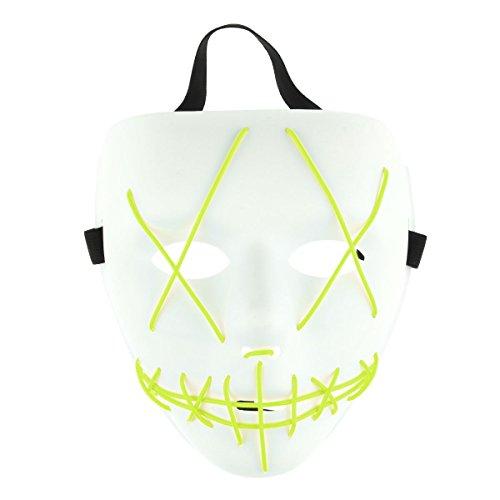 Freebily Halloween Scary Mask, Halloween Cosplay Led Costume