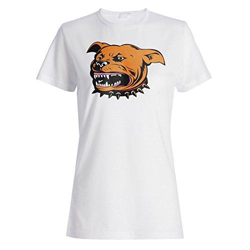 Lustige wütende Hund Bulldog Tier Haustier Damen T-shirt d767f