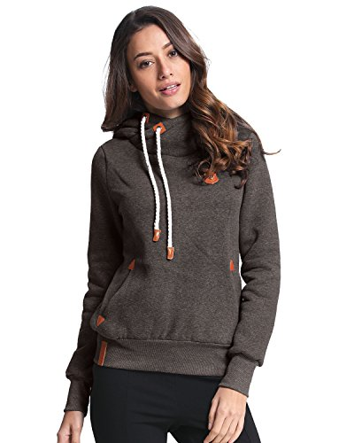 ZANZEA+Ladies+Autumn+Hoodie+Sweatshirts+Long+Sleeve+Pockets+Slim+Tops+Blouse+%2816%2C+Darkgray%29