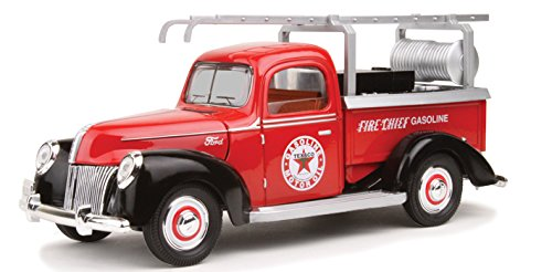 "1940 Ford Fire Truck \Texaco"" Red 1/18 Diecast Model Car..."