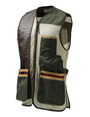 Mesh Shooting Vest - Beretta Men's Us Two Tone Shooting Vest, Green Olive, Small