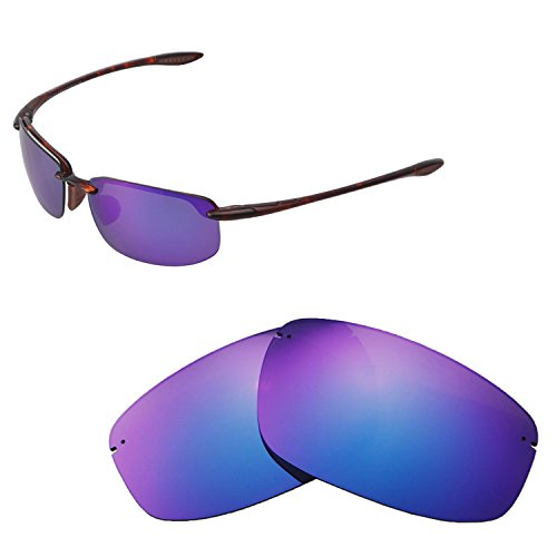 3b8b730cde Walleva Replacement Lenses for Maui Jim Ho okipa Sunglasses - Multiple  Options Available (Purple