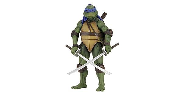 NECA Teenage Mutant Ninja Turtles Leonardo 1/4 Escala Figura ...