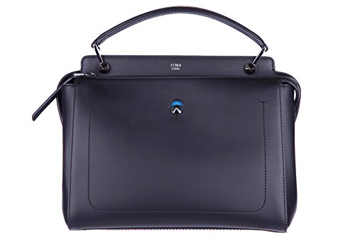 Handbag Blue Fendi (Fendi Women's Dot Com Handbag with Blue Clutch Black)