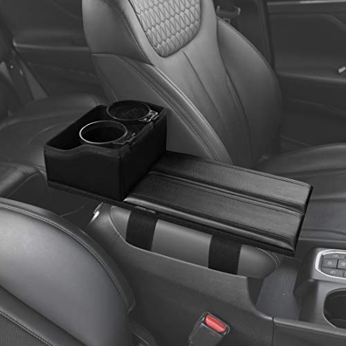 KMMOTORS Multi_Func Armrest Cover Officially Licensed Custom Auto Armrest Cushion Center Consoles Rest, Cup Holder, Organizer for Car Motor Auto Vehicle -
