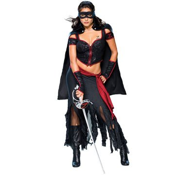 Female Costume Zorro (Lady Zorro Adult Costume -)