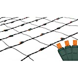 Northlight 4' x 6' Orange LED Net Style Christmas Lights - Green Wire