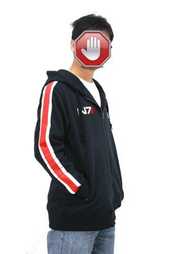 Xcoser Kostüm Cosplay N7 Herren Hoodie Jacke Sweatshirt Aktualisierte Version (XL)