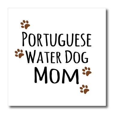 Sweatshirt Portuguese Water (3dRose ht_154177_3 Portuguese Water Dog Mom Doggie Breed Paw Doggy Love Proud Pet Owner- Iron on Heat Transfer, 10 by 10-Inch, For White Material)