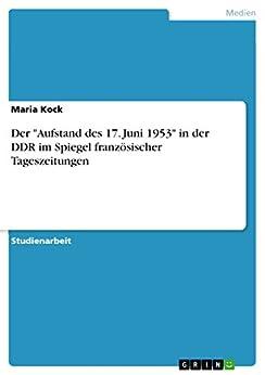 """Amazon.com: Der """"Aufstand des 17. Juni 1953"""" in der DDR im"""