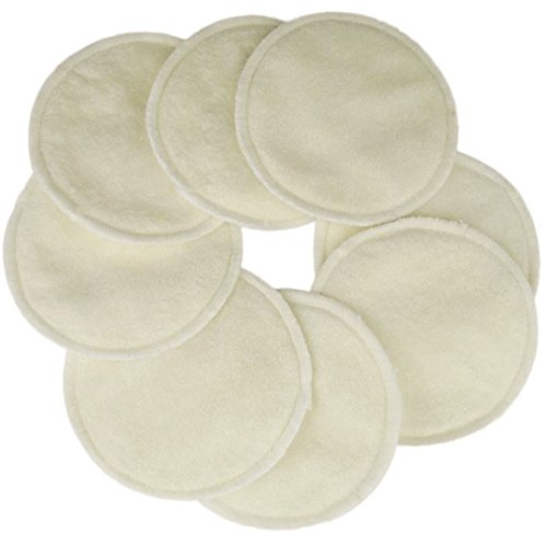 Naturally Nature Super Soft Washable Nursing Pads 3 Layers (4 Pairs-8 Pads) (Bamboo Viscose) (Naturally Natures Inserts compare prices)