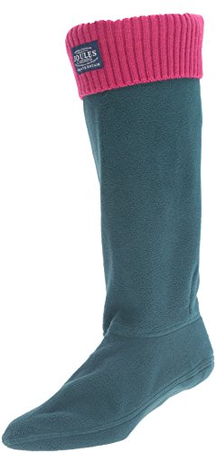 Joules Women's Hilston Rain Boot Sock, Dark Green, 7 M US from Joules