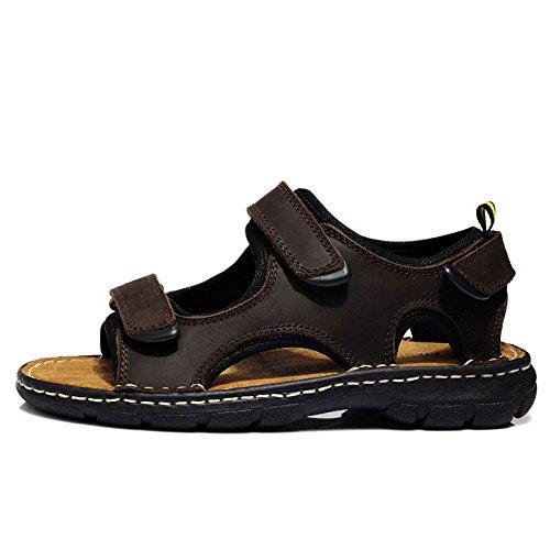 OME&QIUMEI Sandalias De Verano Sandalias Para Hombres Sandalias Marrón 44 44 Brown