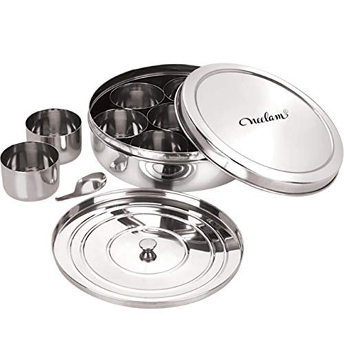 Neelam Stainless Steel Spice Box Set of 10 Pieces – 2175 ml Price & Reviews