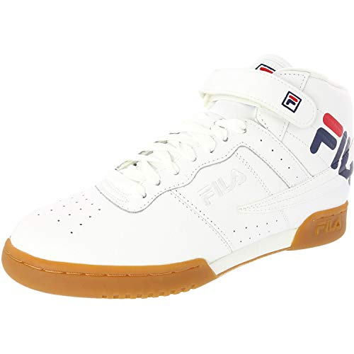 Fila Men s F-13 Logo Mid-Top Leather Fashion Sneaker