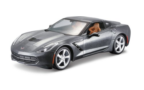 Maisto 1:24 Scale Assembly Line 2014 Corvette Stingray Coupe Diecast Model Kit (Colors May (24 Metal Model Kit)