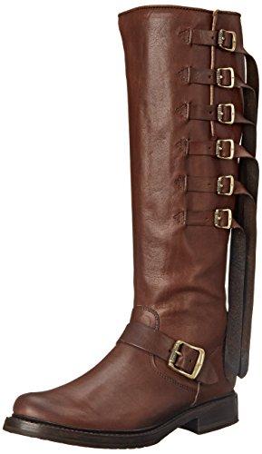 Frye Veronica de la mujer correa tall-tufg Engineer Boot Chocolate-78560