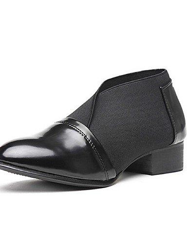 Oxfords Robusto Exterior Black Njx Cn39 Uk5 Negro De Black us8 Comfort Mujer Cn38 Uk6 us7 Puntiagudos Eu39 Zapatos Casual Eu38 5 5 Tacón Semicuero 8nCfn07