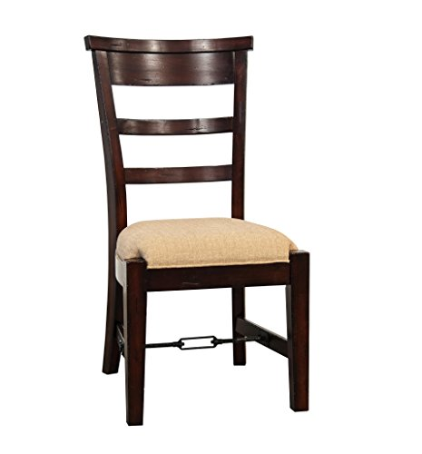 Vineyard Side Chair, Rustic Mahogany Finish (Antique Mahogany Dining Table)