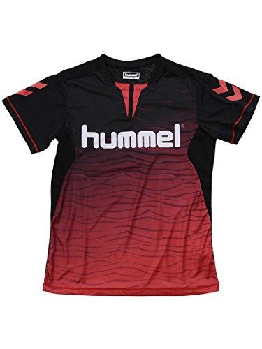 アンカーチューブ添加(ヒュンメル) hummel 18SS_JRプラクティスシャツ 150 ブラック×レッド