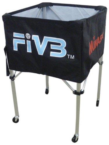 ミカサ ボールカゴ FIVBロゴ入 ブラック フレーム/幕体/キャリーケース3点セット BCVFH-BK