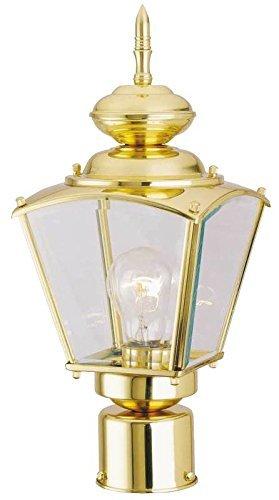 - Boston Harbor 4007H2 1-Light Post Coach Lantern, Brass by Boston Harbor