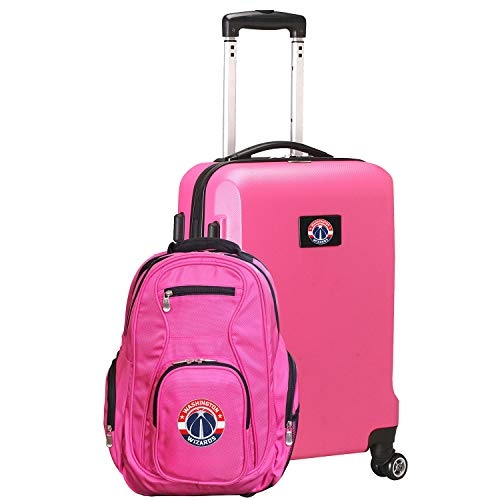 (NBA Washington Wizards Deluxe 2-Piece Backpack & Carry-On Set, Pink)