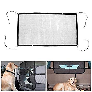 115cmx62cm Pet Safety Isolation Net Back Seat Dog Barrier Mesh for Car SUV Truck