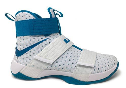 Nike Lebron Soldier 10 Zapatillas De Baloncesto Para Hombre Blanco / Tropical Teal