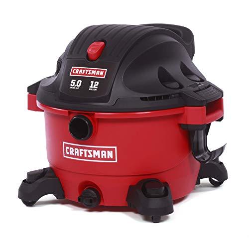 Craftsman 17765 12 Gallon 5.0 Peak HP Wet Dry Shop Vacuum (Renewed)