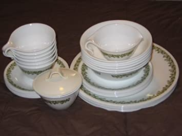 33 Piece Set - Vintage Corning Ware Corelle SPRING BLOSSOM - 6 Dinner Plates 6 : corning dinnerware sets - Pezcame.Com