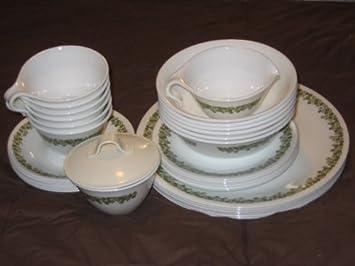 33 Piece Set - Vintage Corning Ware Corelle SPRING BLOSSOM - 6 Dinner Plates 6 & Amazon.com | 33 Piece Set - Vintage Corning Ware Corelle SPRING ...