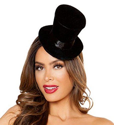 Sexy La La Land Mini Top Hat - Black - O/S - Sexy Top Hat