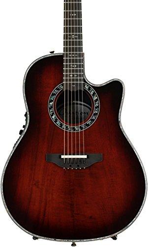 Collection Ebony Pearl Finish - Ovation Legend Plus Premium Grade Koa Top Acoustic-Electric Guitar with Hard Case