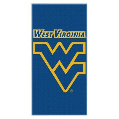 - The Northwest Company NCAA West Virginia Mountaineers 28x58 College Football Cotton Velour Beach Towel