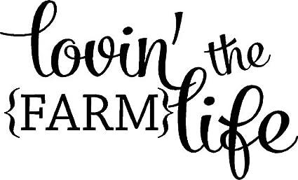 amazon com lovin the farm life farm wall quote words farm decals
