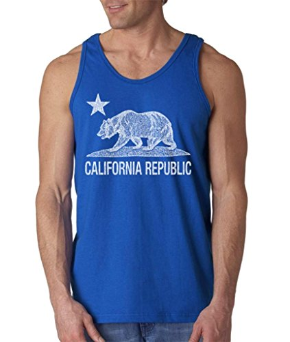 5fa429b70 Shop4Ever California Republic Vintage White Bear Men's Tank Top Cali Tank  Tops. Tap to expand