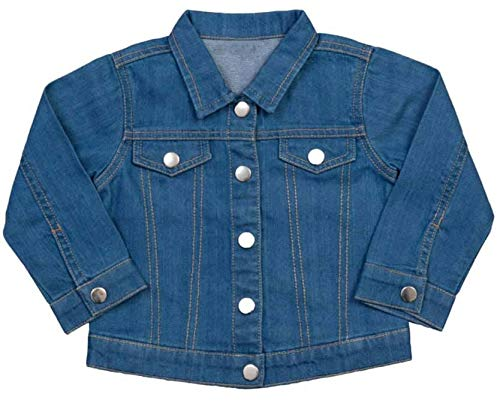 Organic Denim Jacket for Toddlers with Embroidered Om Symbol