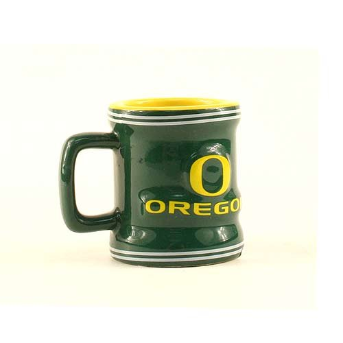 (Oregon Ducks NCAA Licensed Sculpted Ceramic Mini Mug Style Shot Glass (2 Oz.))