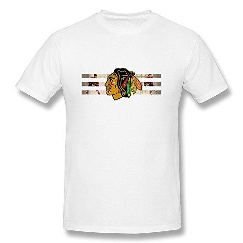 2015 NHL Playoffs Chicago Blackhawks Men's T Shirt White Size S