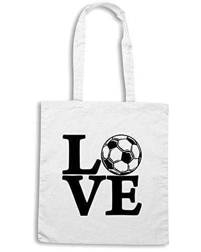 T-Shirtshock - Bolsa para la compra OLDENG00251 soccer love kids Blanco