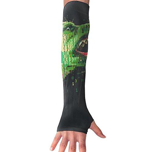 (Unisex Cyber Warfare Anti-UV Cuff Sunscreen Glove Outdoor Sport Riding Bicycles Half Refers Arm)