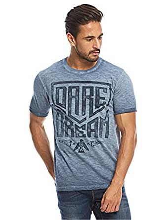 Flying Machine Blue Round Neck T-Shirt For Men