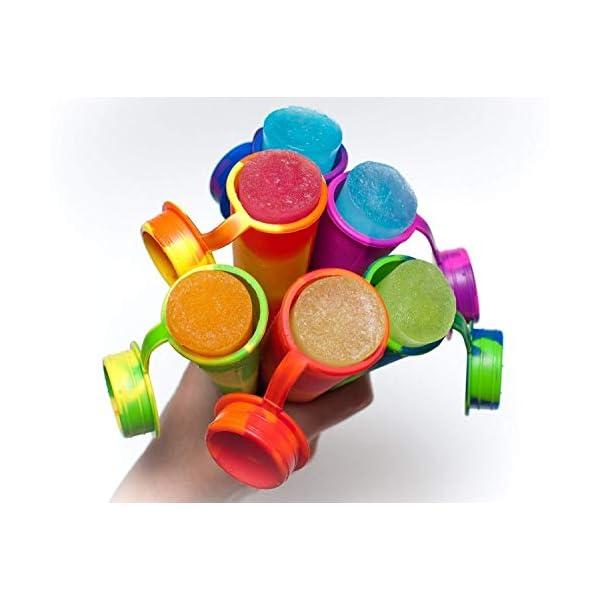 joyoldelf Ghiaccioli Stampo, Set di 6 Formine per Ghiaccioli, Stampi Ghiaccio in Silicone(Marrone) 4 spesavip