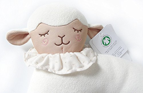 Organic Cotton Baby Head Positioner and Shaping Pillow – Helps Prevent Flat Head Syndrome (Plagiocephaly) and Provides Head and Neck Support for Your Newborn Baby (0-12 Months) (1-Pack, Little Lamb) by AnPei (Image #3)