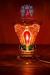 Kaew Kalaya - Luxury Aromatherapy Oils Lamp Electric Fragrance Oil Warmer, Essential Oil Burner with 35 Watt Halogen Bulb and Touch Dimmer Switch for Room Decoration & Relaxation Couple Room Model